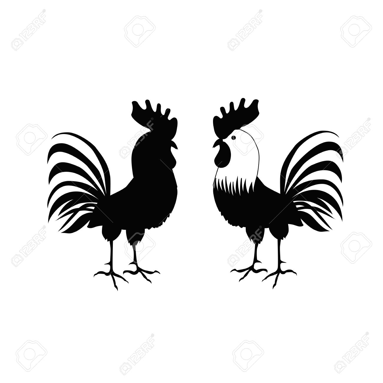 Cocks in hand drawing style rooster symbol of chinese new year rooster symbol of chinese new year vector illustration biocorpaavc