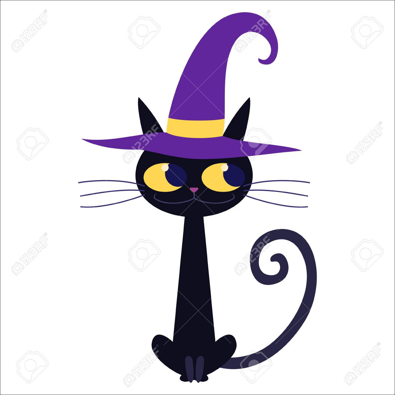 Cartoon Black Cat Isolated Illustration Royalty Free Cliparts Vectors And Stock Illustration Image 24638595