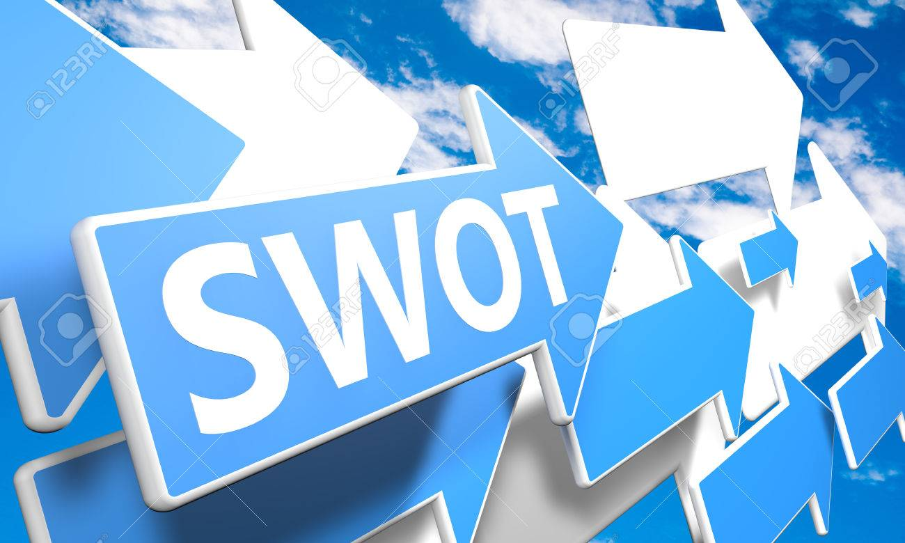 swot for strengths weaknesses opportunities and threats 3d swot for strengths weaknesses opportunities and threats 3d render concept blue and white