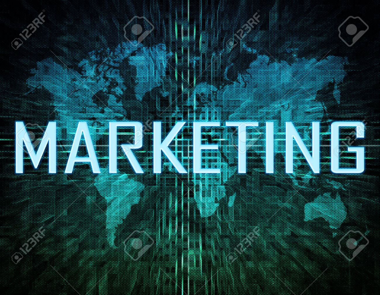 Marketing text concept on green digital world map background stock marketing text concept on green digital world map background stock photo 29061614 gumiabroncs Images