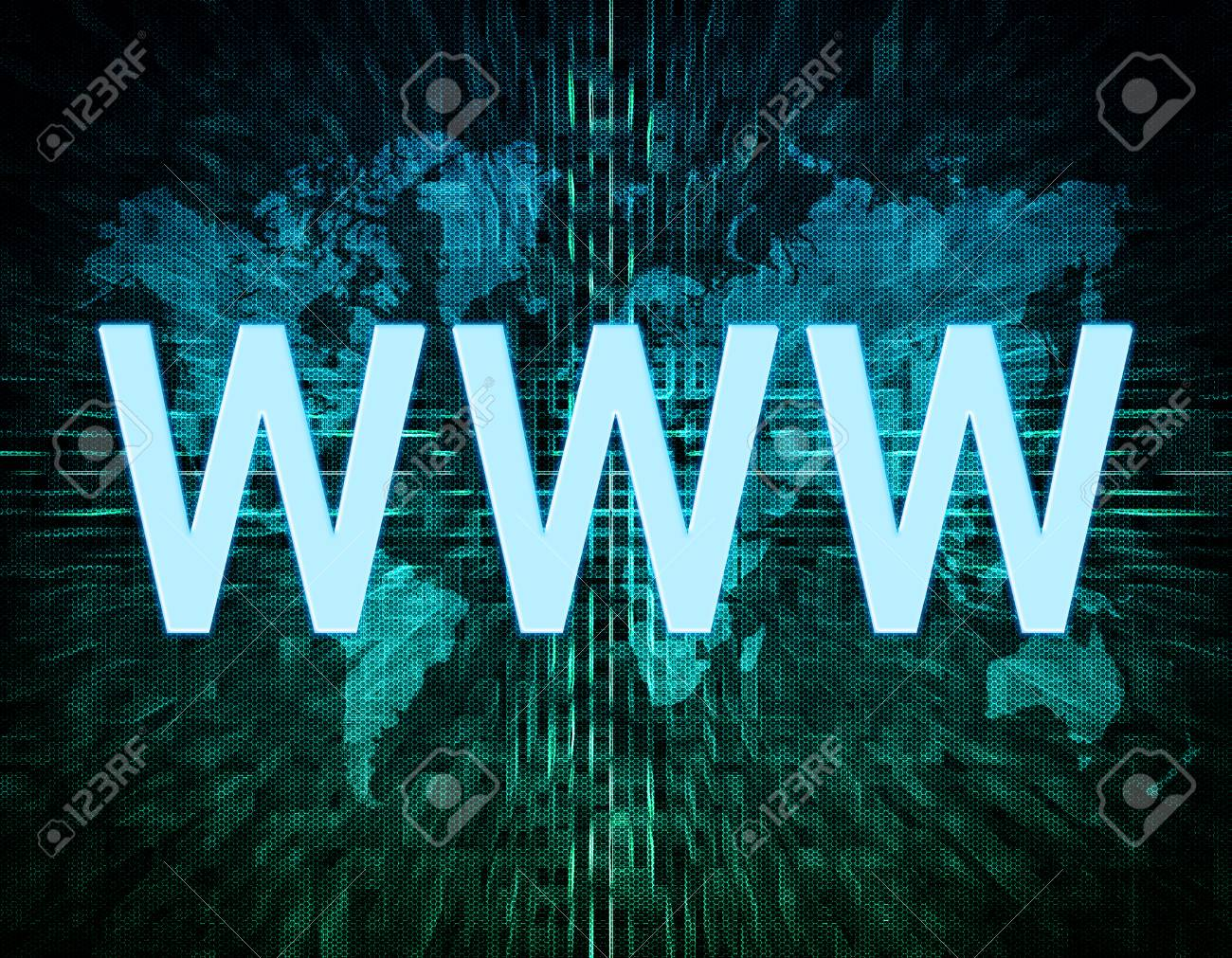 Www world wide web text concept on green digital world map stock stock photo www world wide web text concept on green digital world map background gumiabroncs Images