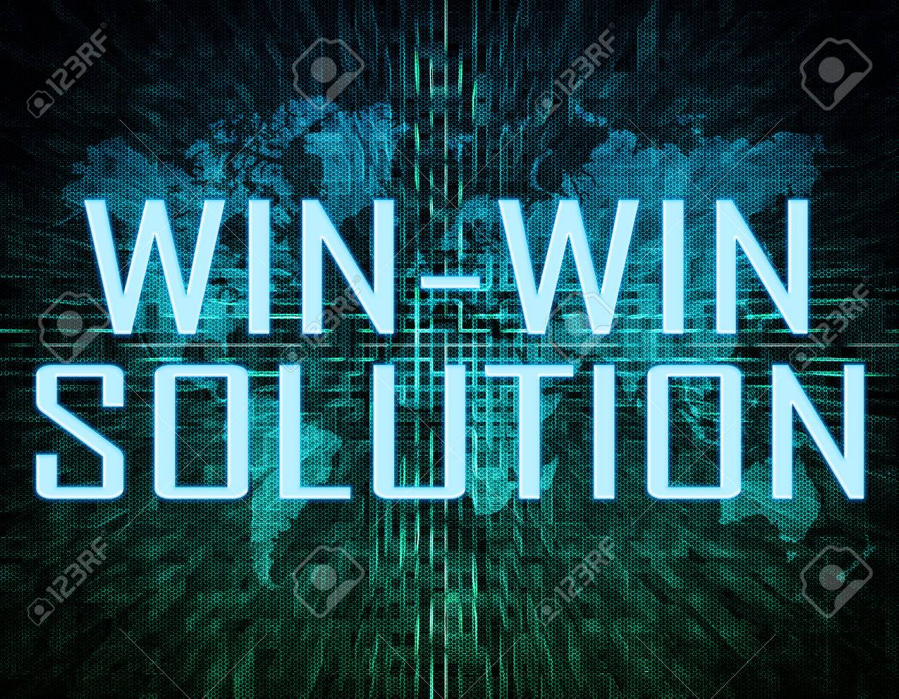 Win win solution text concept on green digital world map background stock photo win win solution text concept on green digital world map background gumiabroncs Images