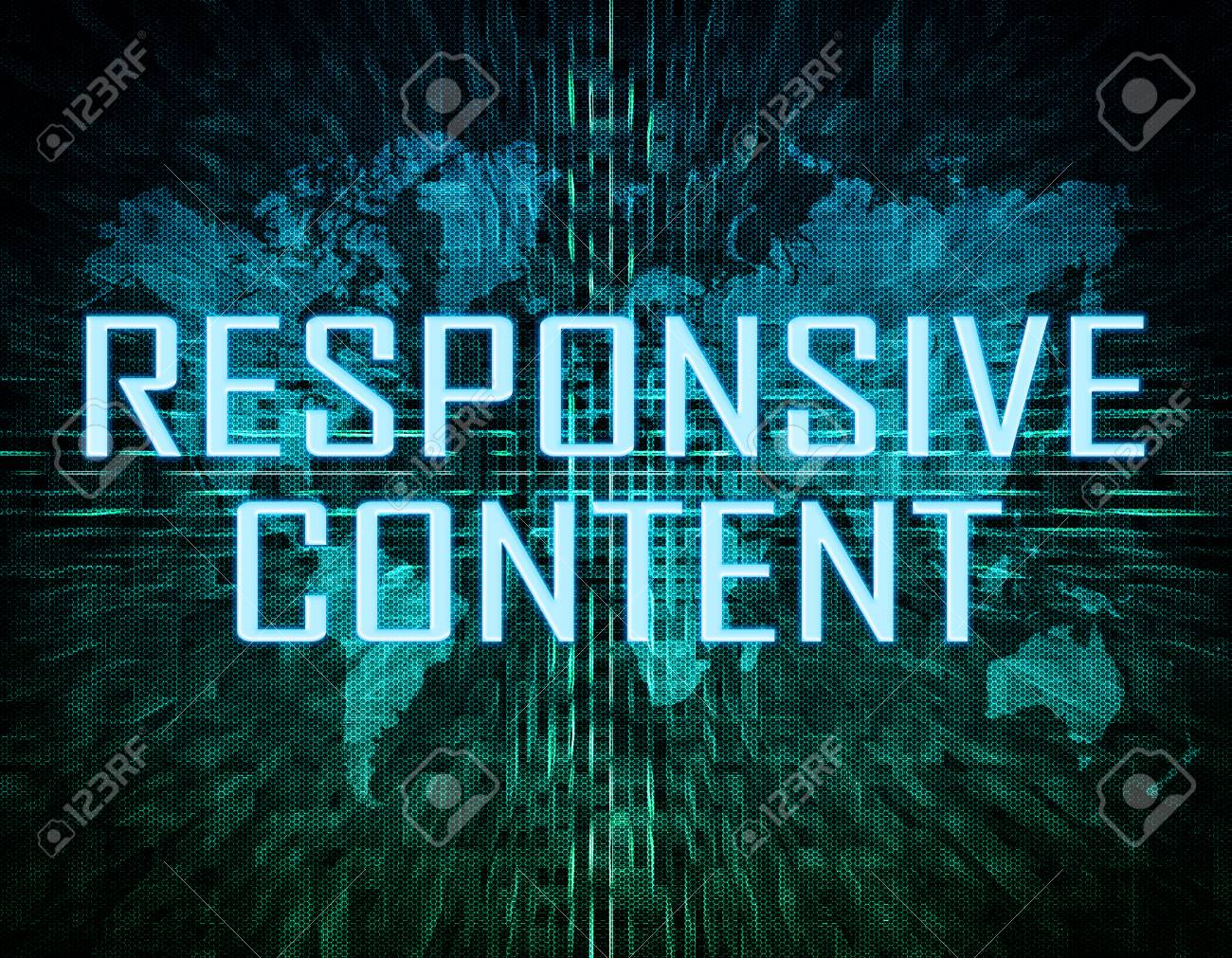 Responsive content text concept on green digital world map responsive content text concept on green digital world map background stock photo 30226603 gumiabroncs Images