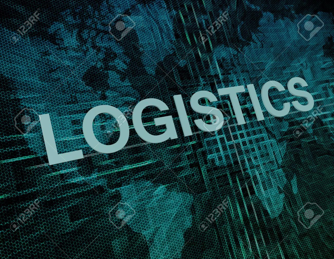 Logistics text concept on green digital world map background stock logistics text concept on green digital world map background stock photo 32427207 gumiabroncs Images