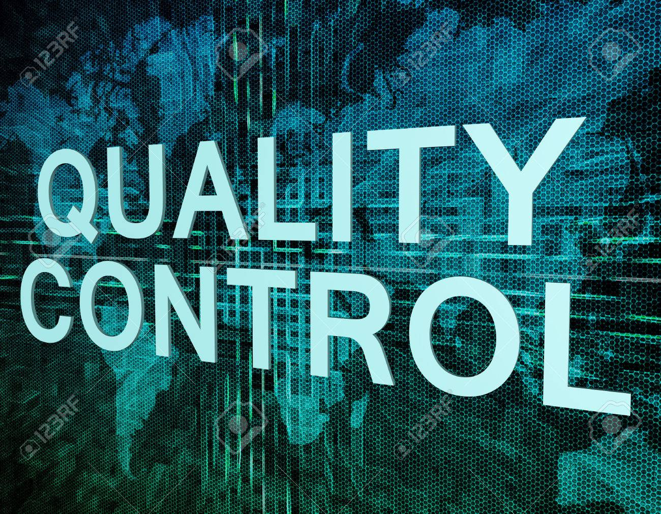 Quality control text concept on green digital world map background quality control text concept on green digital world map background stock photo 44396752 gumiabroncs Images