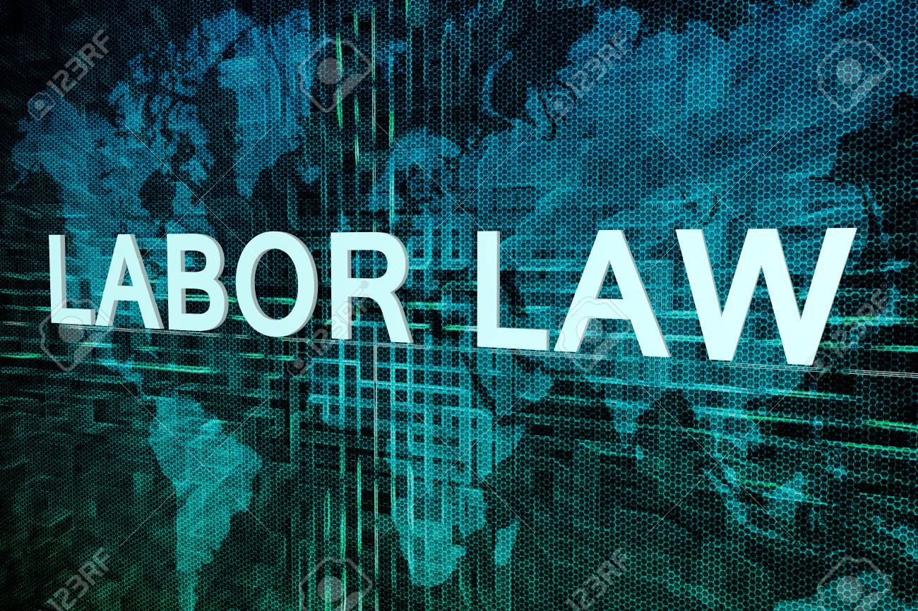 Labor law text concept on green digital world map background stock labor law text concept on green digital world map background stock photo 50678641 gumiabroncs Images