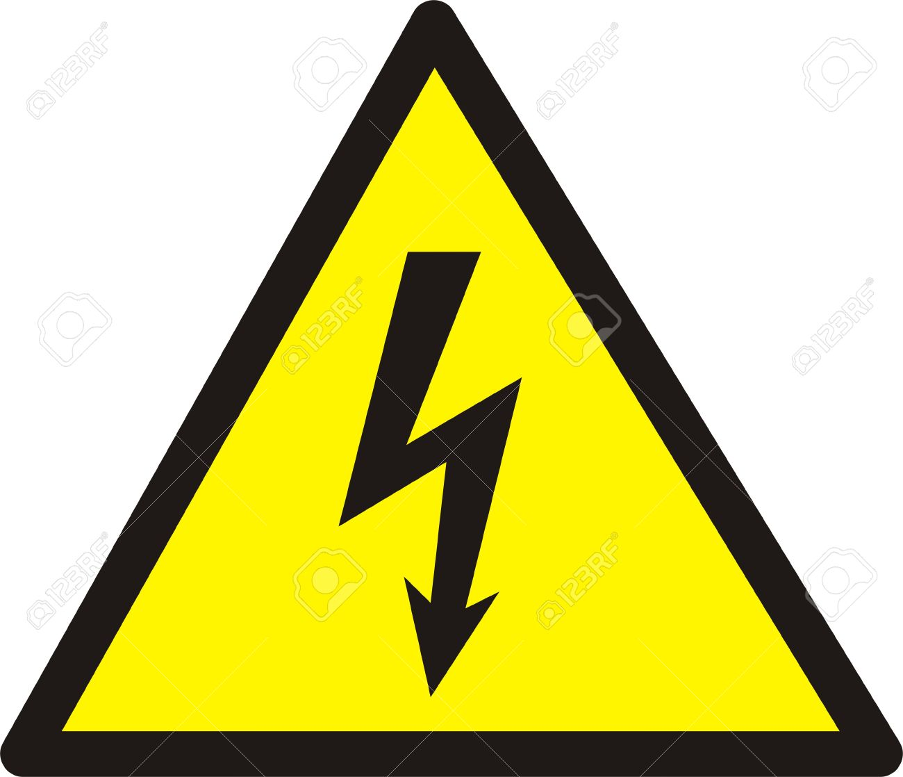 Danger Of Defeat By An Electric Current Large Size Stock Photo