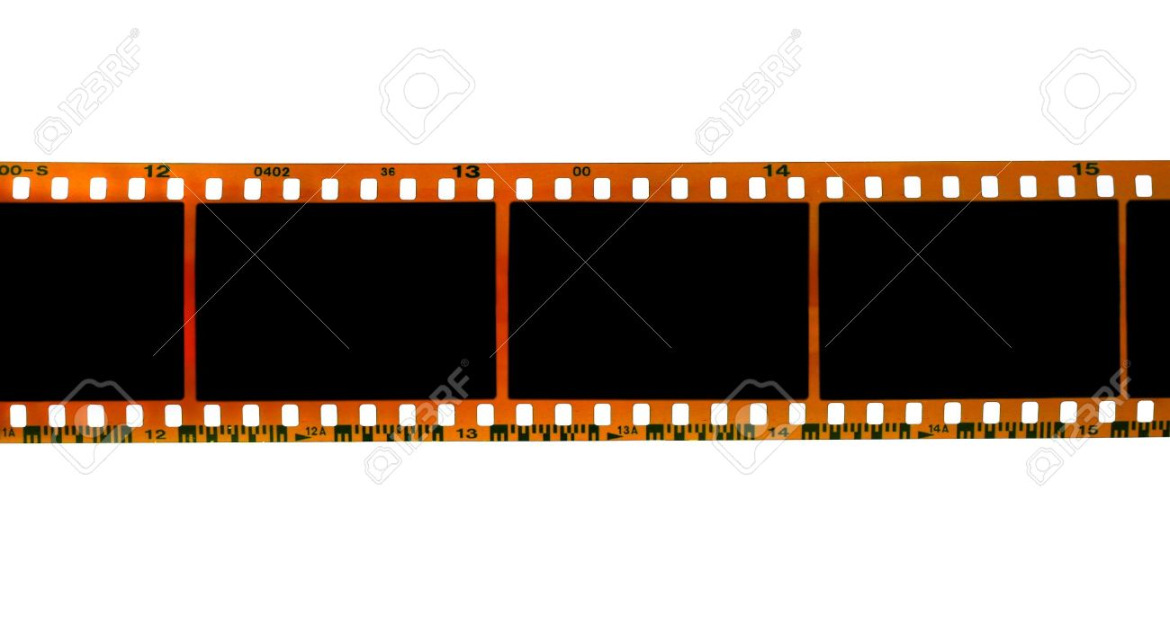 35mm filmstrip isolated on white background Stock Photo - 10464698