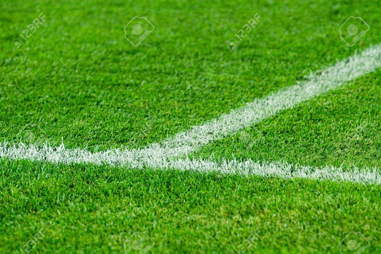 Soccer field grass Perspective Stock Photo White Line On Soccer Field Grass 123rfcom White Line On Soccer Field Grass Stock Photo Picture And Royalty