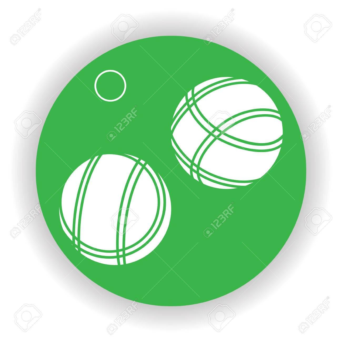 bocce balls icon vector royalty free cliparts vectors and stock rh 123rf com Bocce Ball Drawings Bocce Ball Graphics