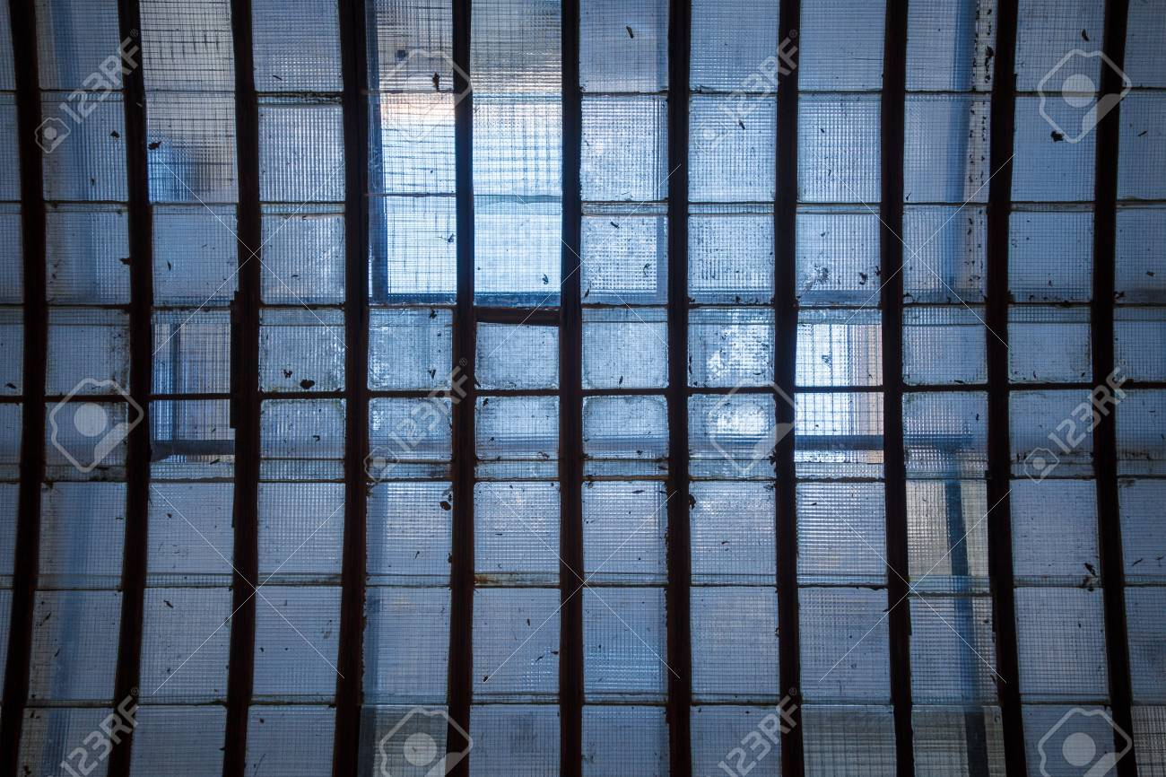 Industrial Ceiling Skylight Of Wire Mesh Reinforced Glass Panes ...