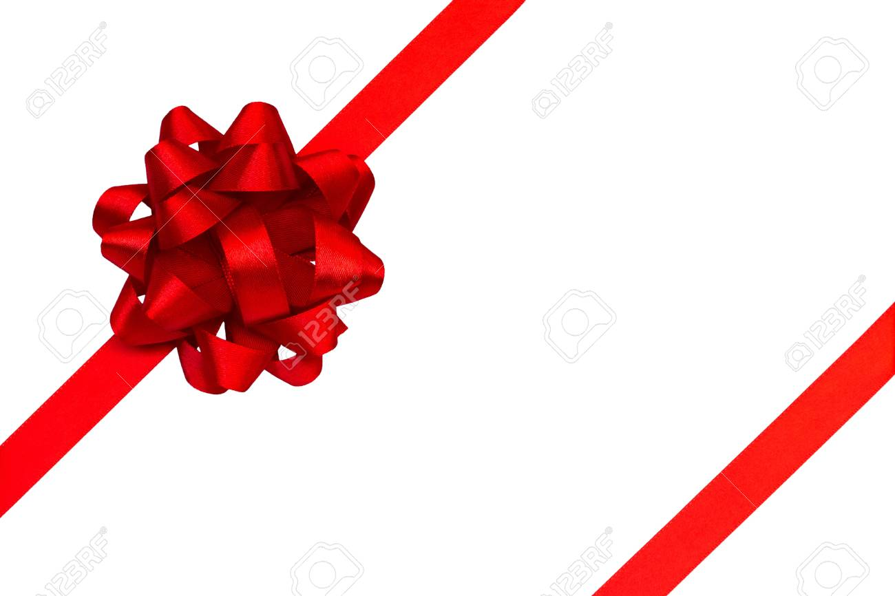 red ribbon and bow Stock Photo - 12942288