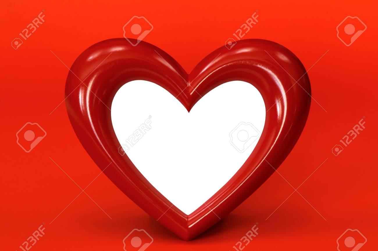 heart shape over red background Stock Photo - 13321841
