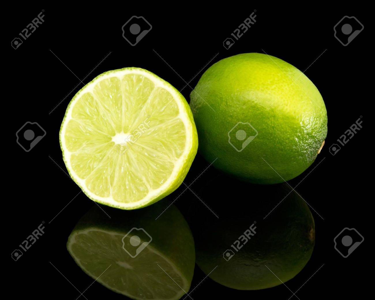 lime isolated on black Stock Photo - 13519791