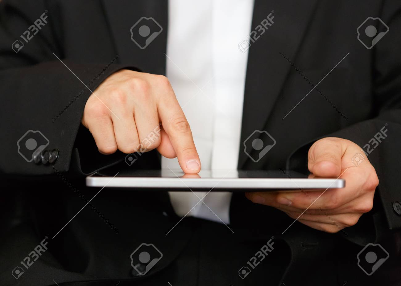 business man with digital tablet Stock Photo - 15887523