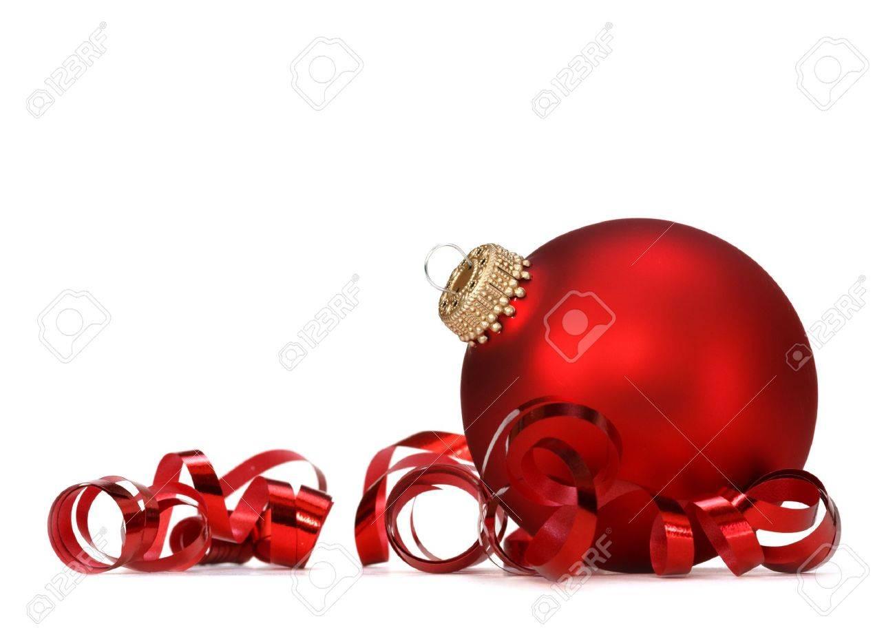 Boule De Noël Rouge Banque D'Images Et Photos Libres De Droits