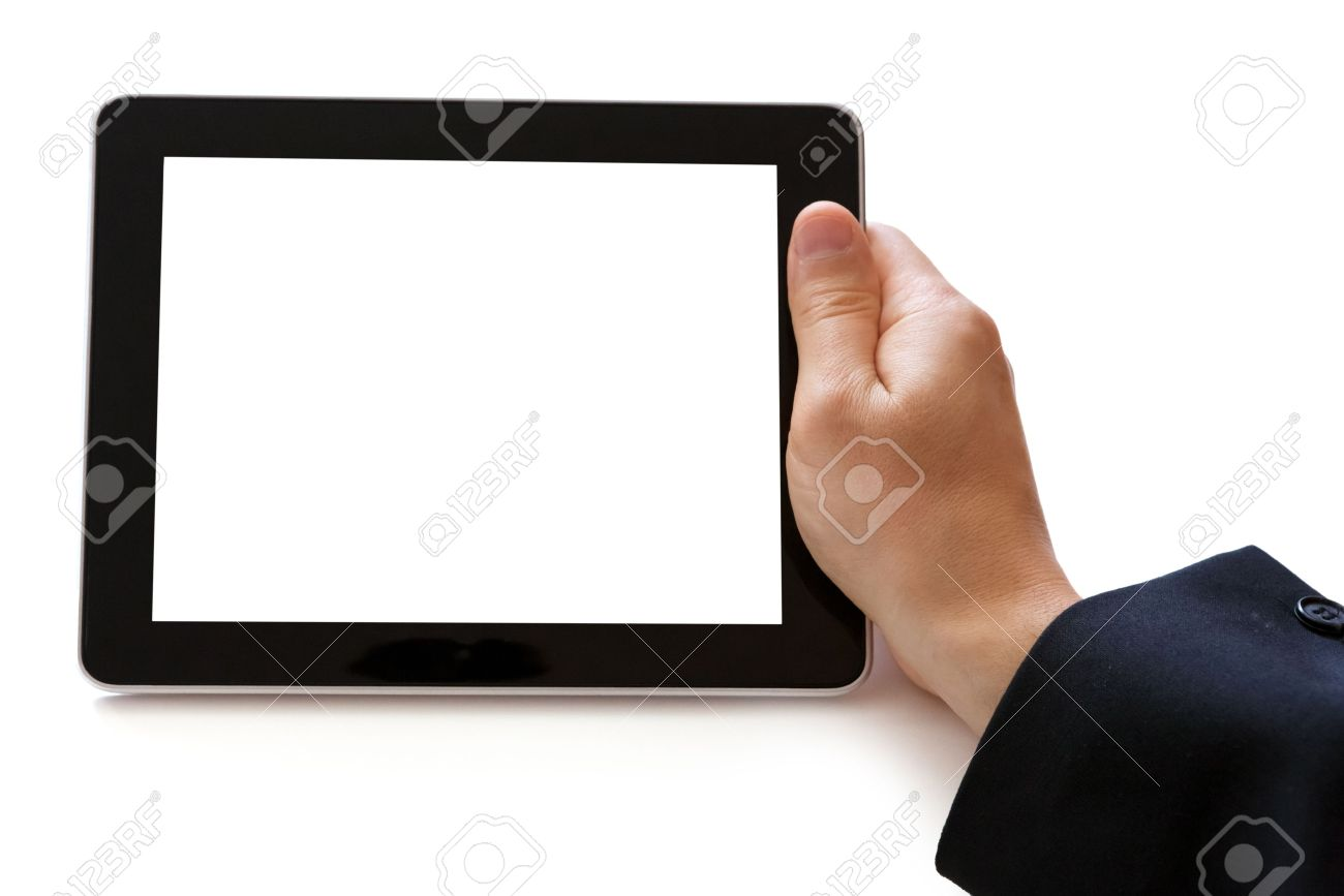 digital tablet in hand Stock Photo - 16139584
