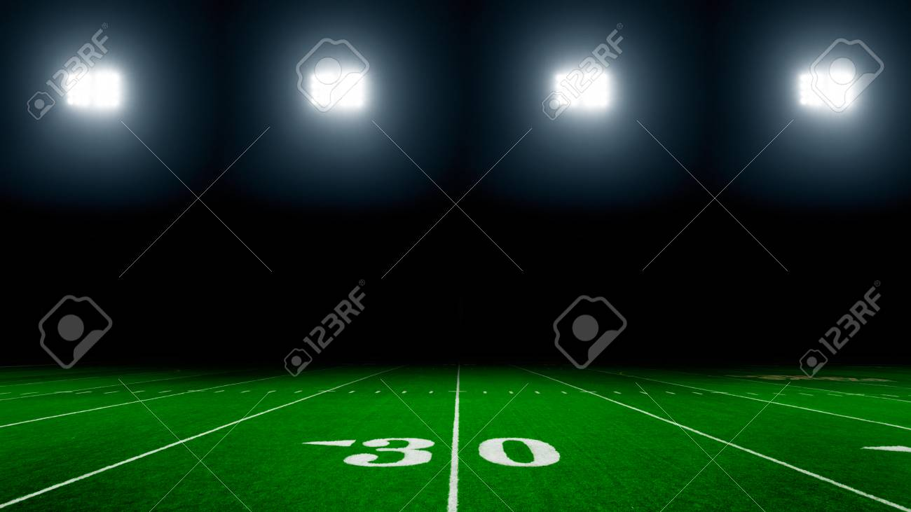 American Football Field Background Stock Photo Picture And Royalty