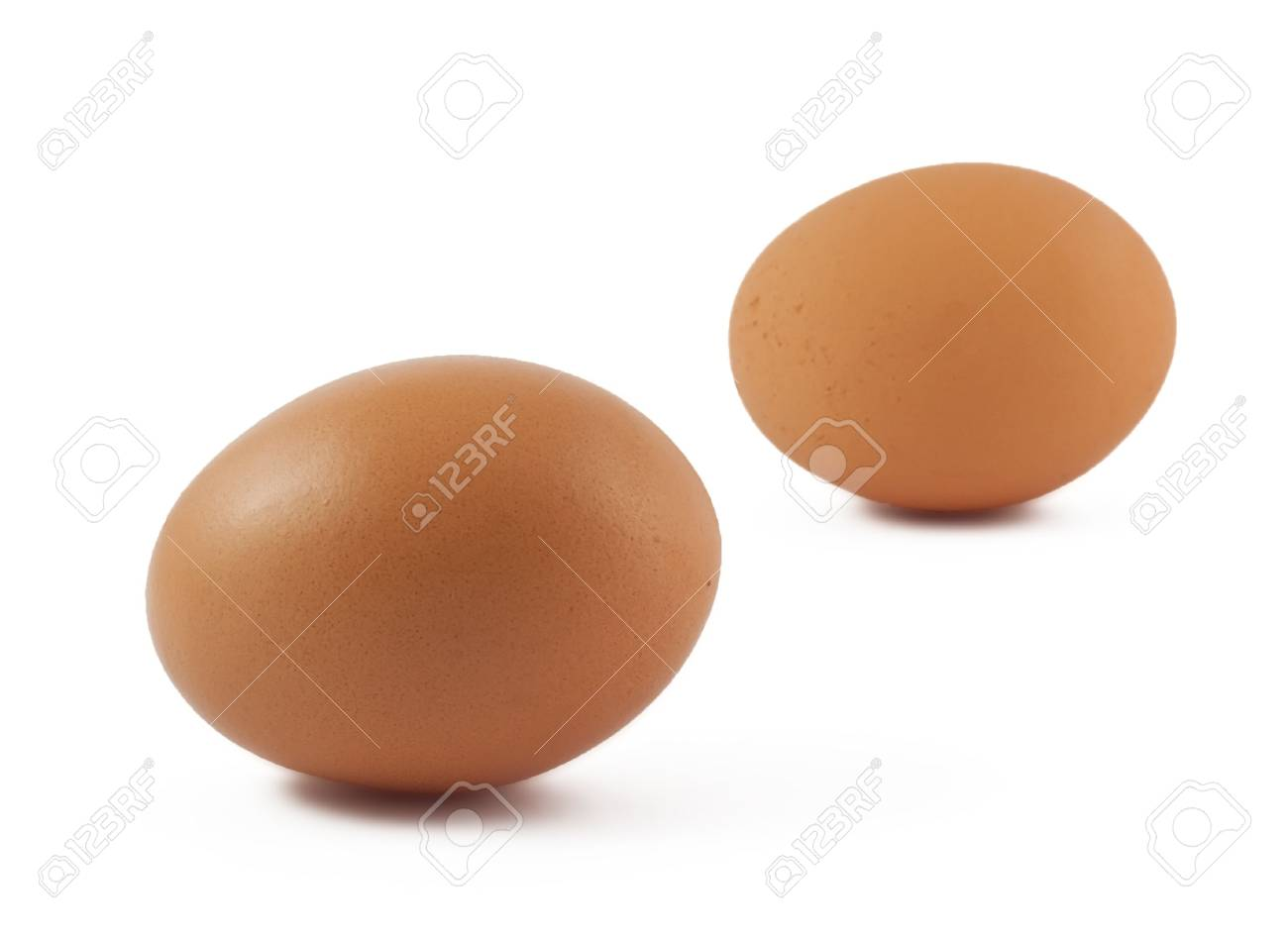 Two brown eggs isolated on white background Stock Photo - 8138270