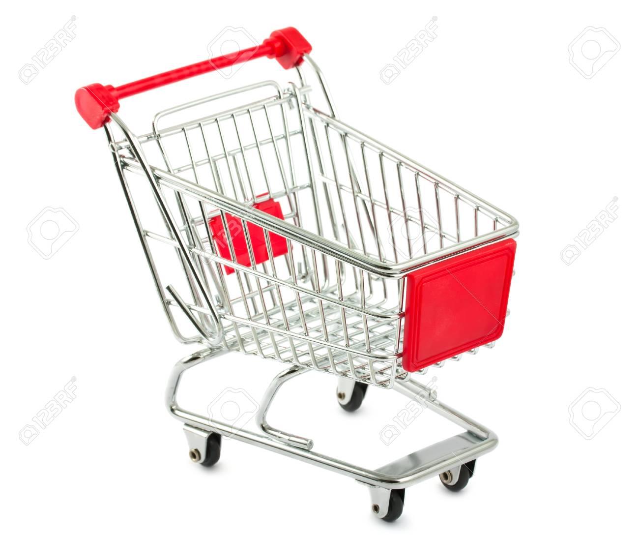 Metal shopping cart isolated on white background Stock Photo - 11270726
