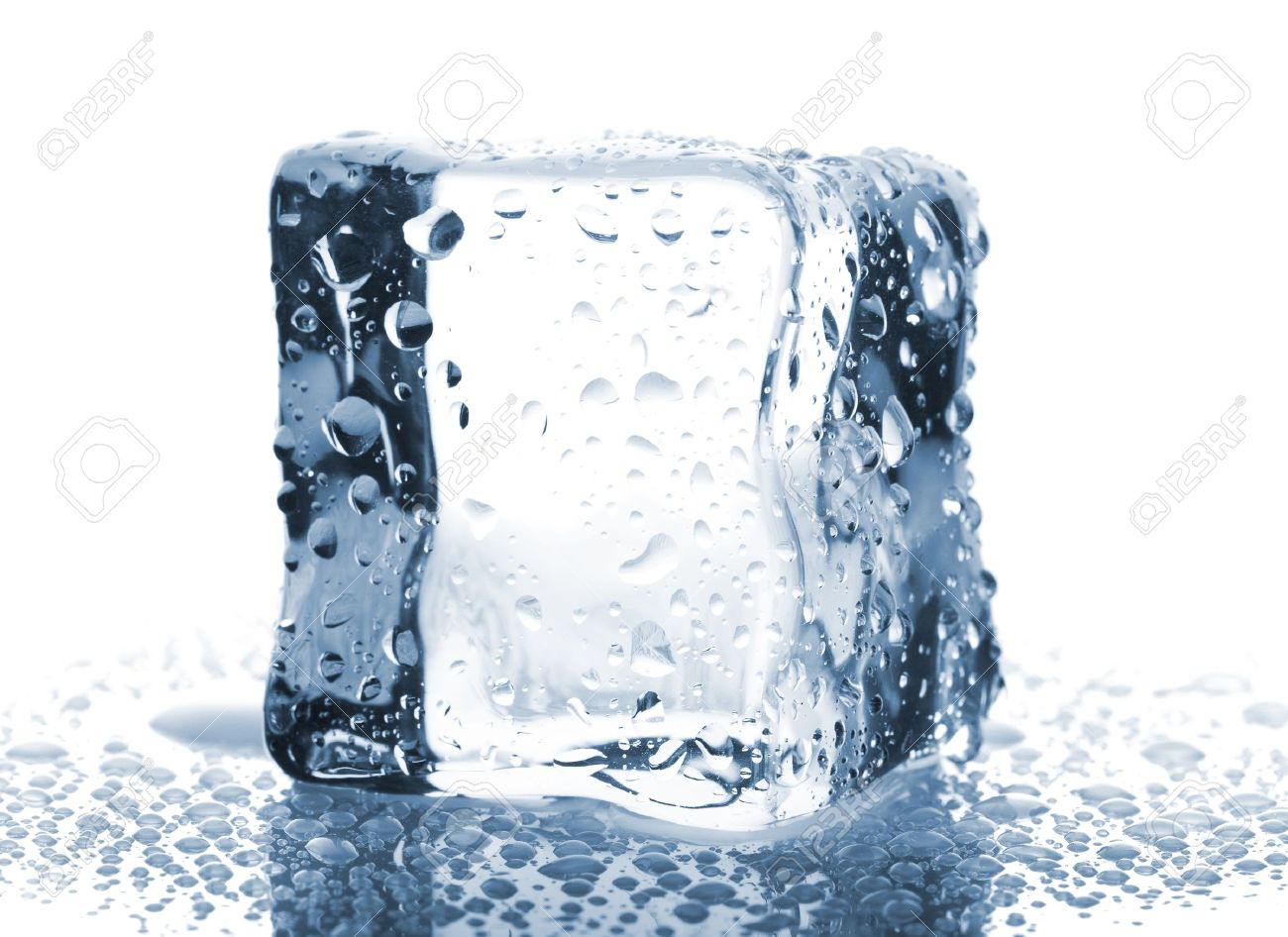 Single ice cube with water Single Ice Cube