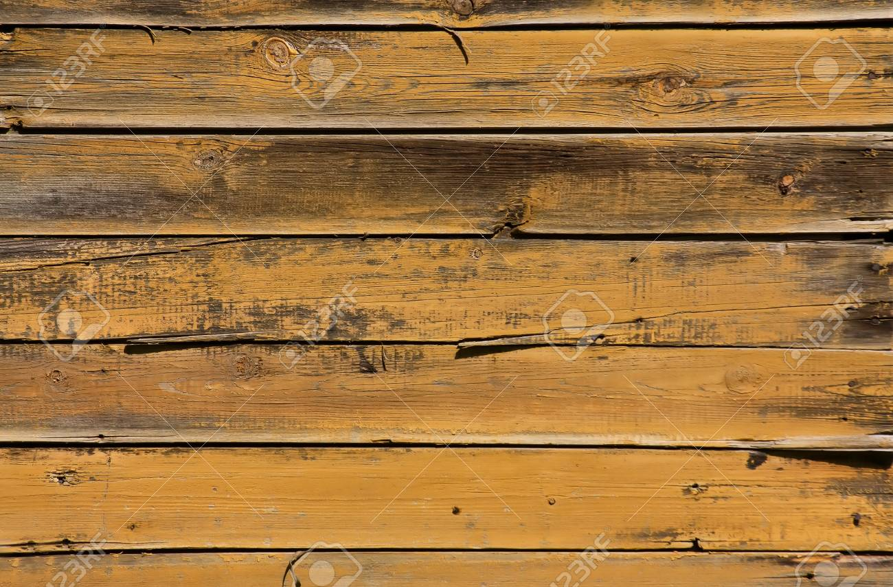 Wooden background with horizontal yellow boards Stock Photo - 13934553