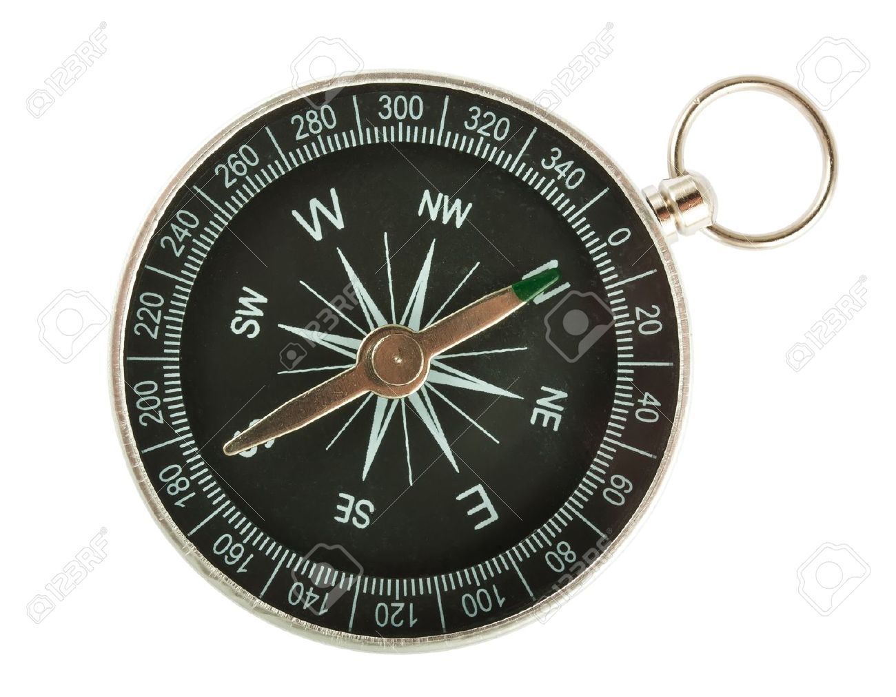 Black Compass Closeup Isolated on White Background Stock Photo - 14068386