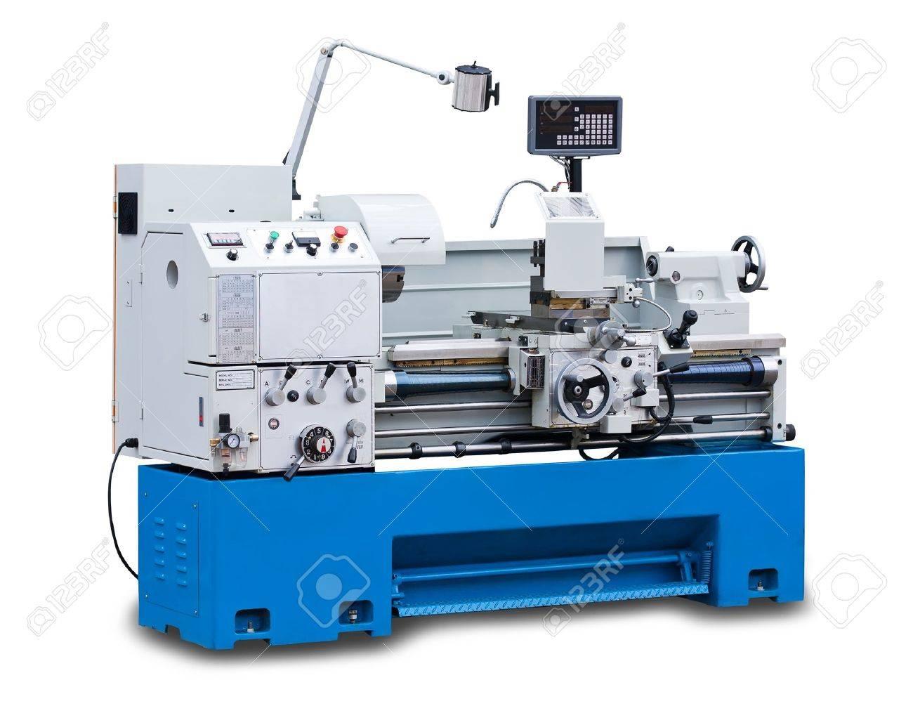 Lathe turning machine isolated on white background Stock Photo - 15260202