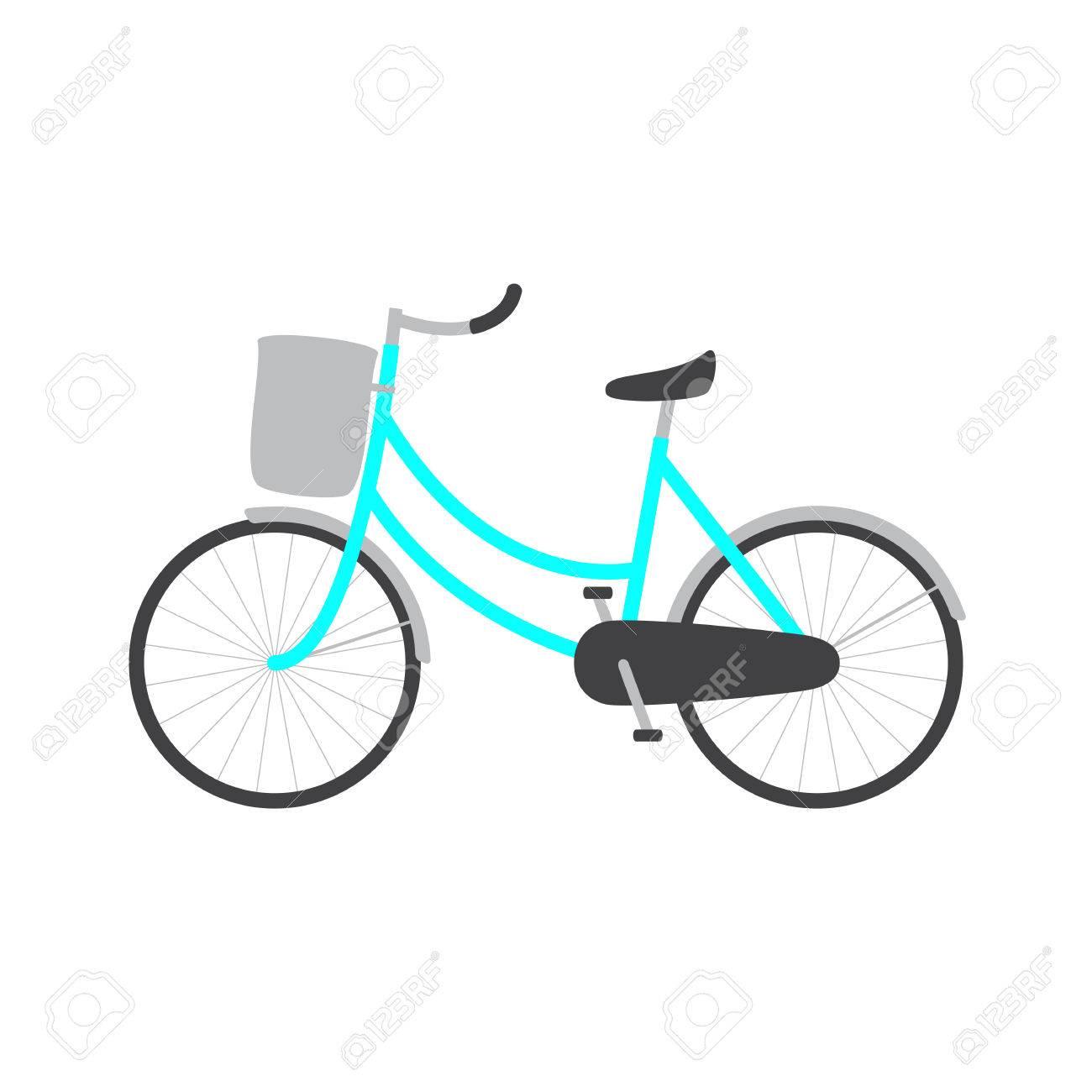 Bicicleta Con Marco Azul Color Femenino, Maleta De Color Gris Claro ...