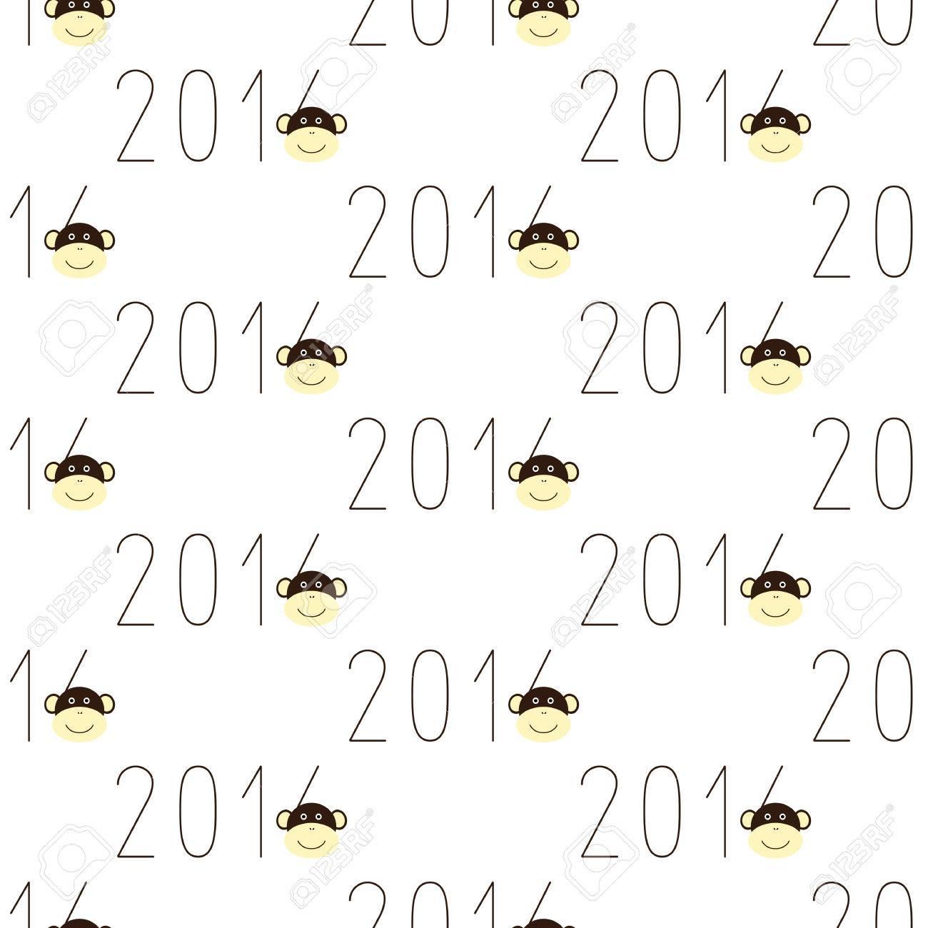 Nahtloses Muster Mit Sich Wiederholenden Zahlen 2016 Und Lächelnd ...