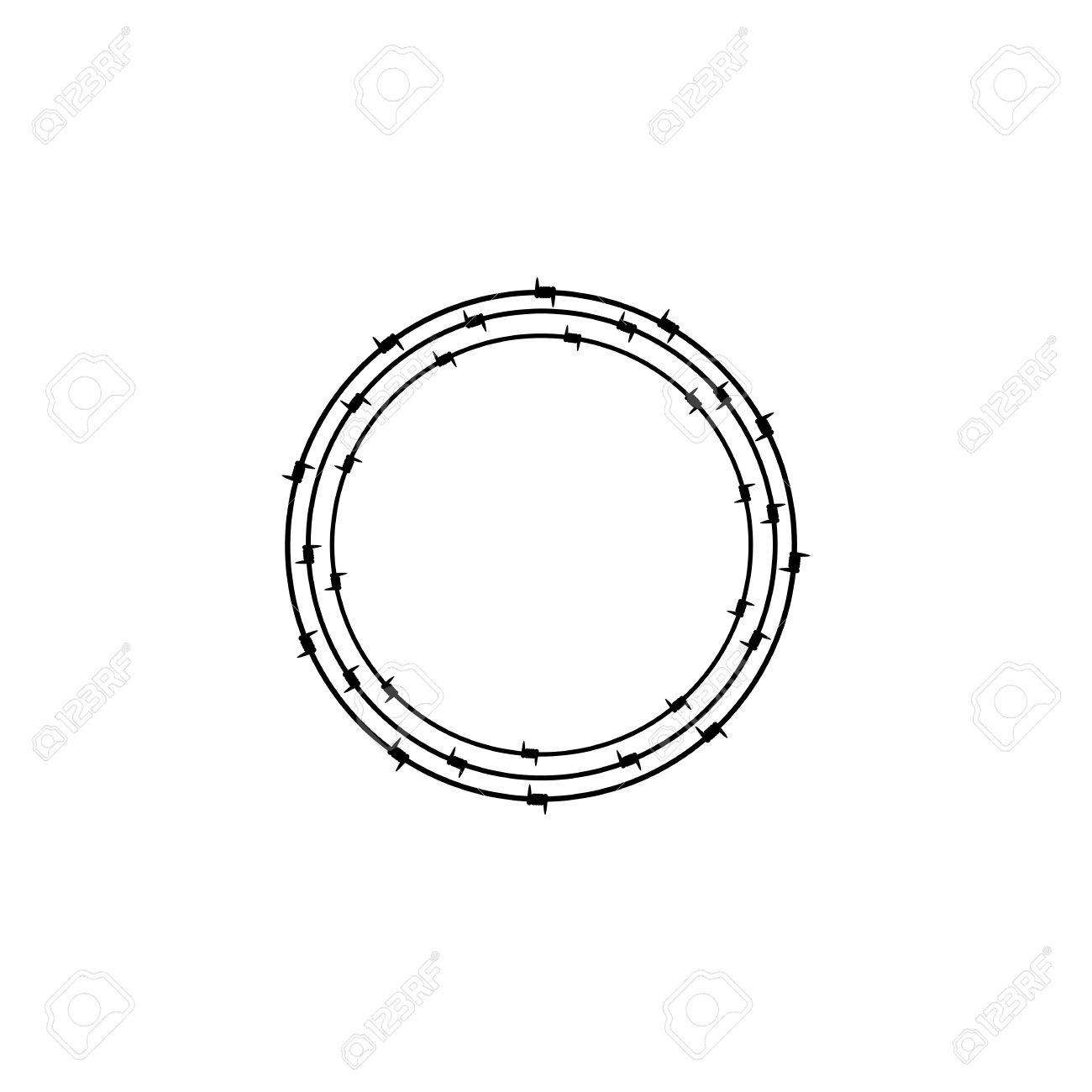 Exelent Barbed Wire Circle Clip Art Ensign - Electrical and Wiring ...