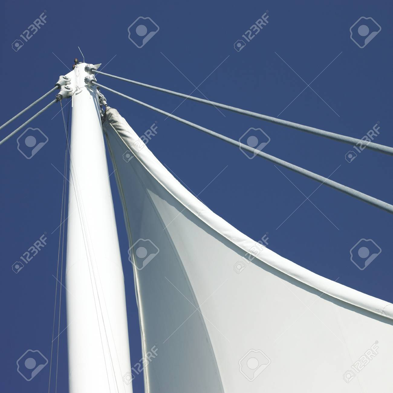 Sails and blue sky Stock Photo - 18068098