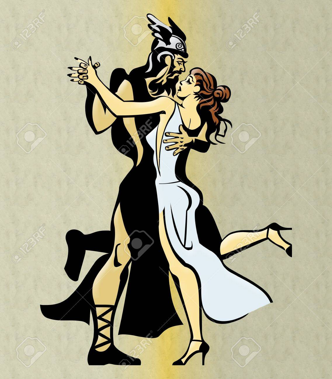 Greek Couple Dancing Stock Photo - 7653479