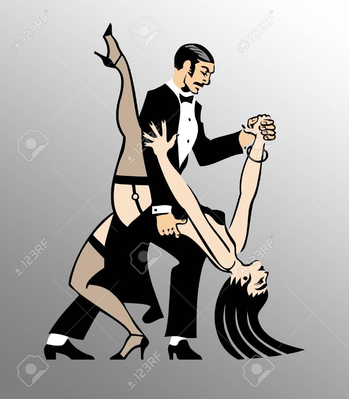 Couple Dancing Tango 1 Stock Photo - 7653462