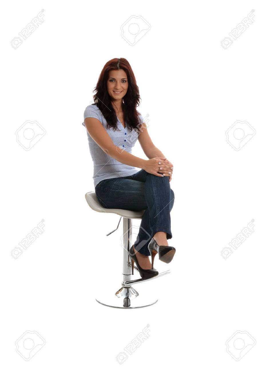 Beauty waiting for interview with a smile Stock Photo - 14679902