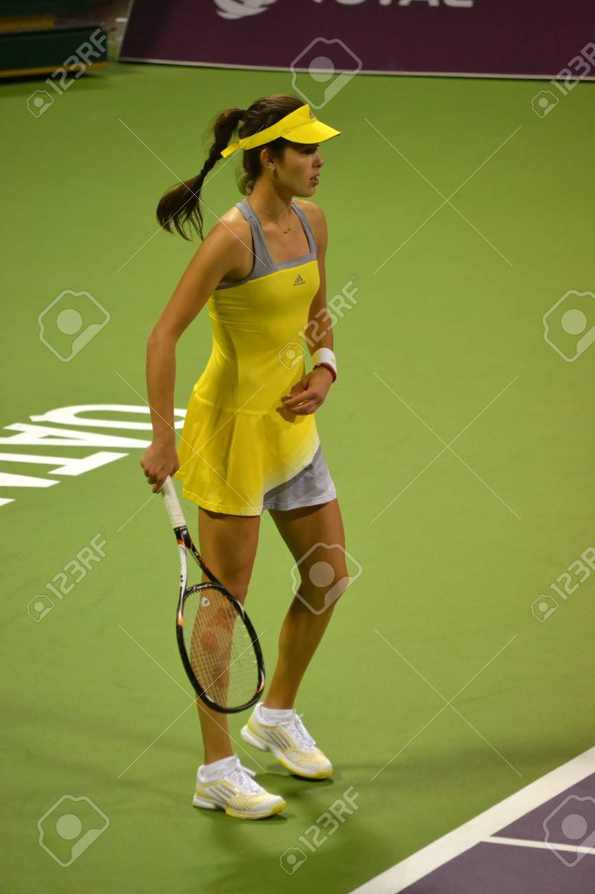 Doha Qatar February 11 Serbian Tennis Player Ana Ivanovic At Stock Photo Picture And Royalty Free Image Image 18080205