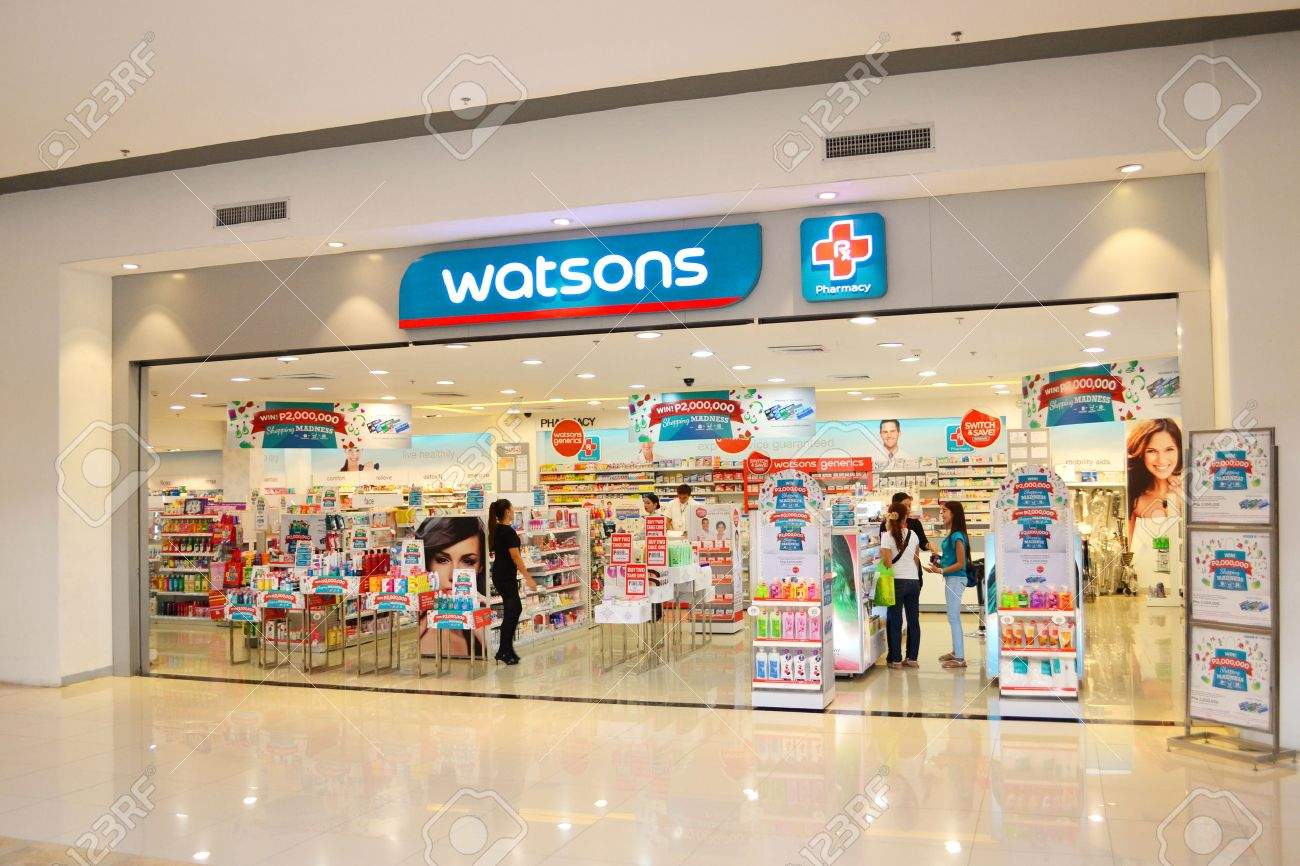 Watsons personal care store is one of the most famous health & beauty care stores in the far east since 1828. Stock Photo - 36606991