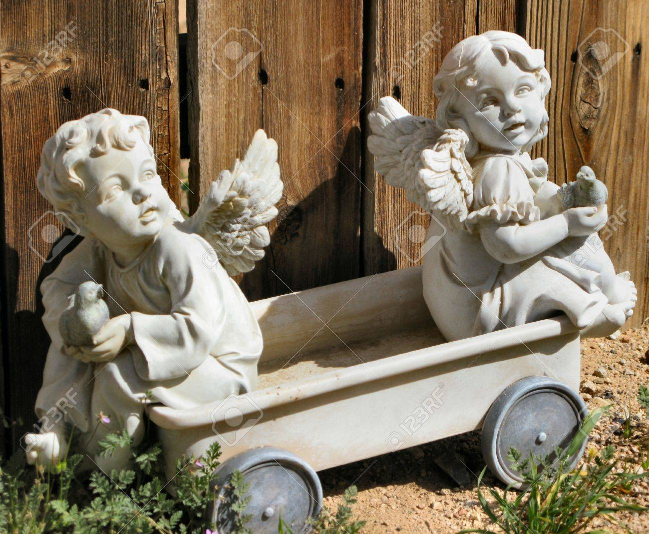 Garden Angels Stock Photo Picture And Royalty Free Image Image