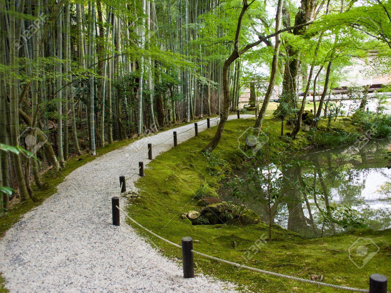 foto de archivo japoneses jardines zen en kyoto