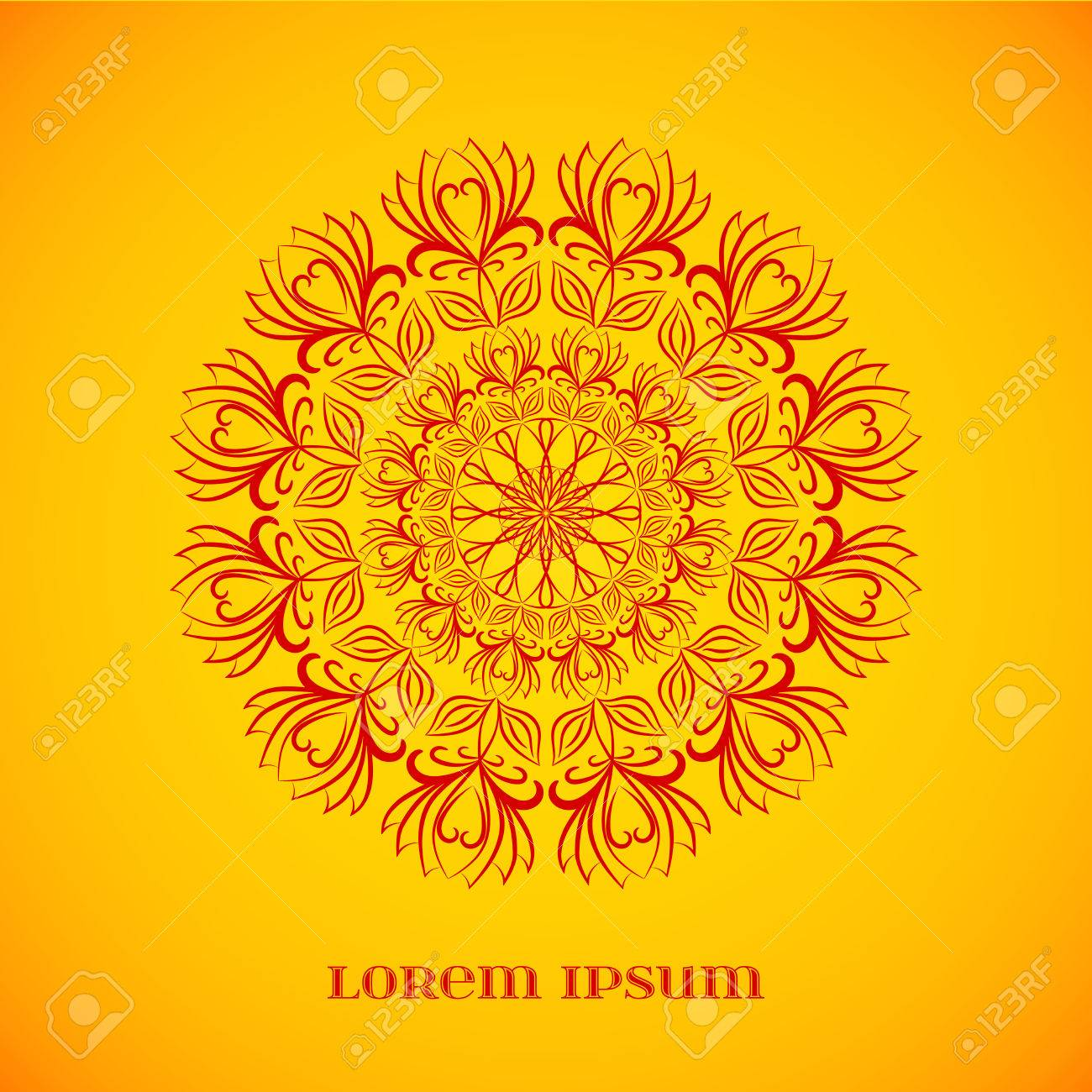 Vector geometric red mandala over orange element for your designs vector vector geometric red mandala over orange element for your designs invitation cards yoga meditation astrology religion and other projects stopboris Image collections