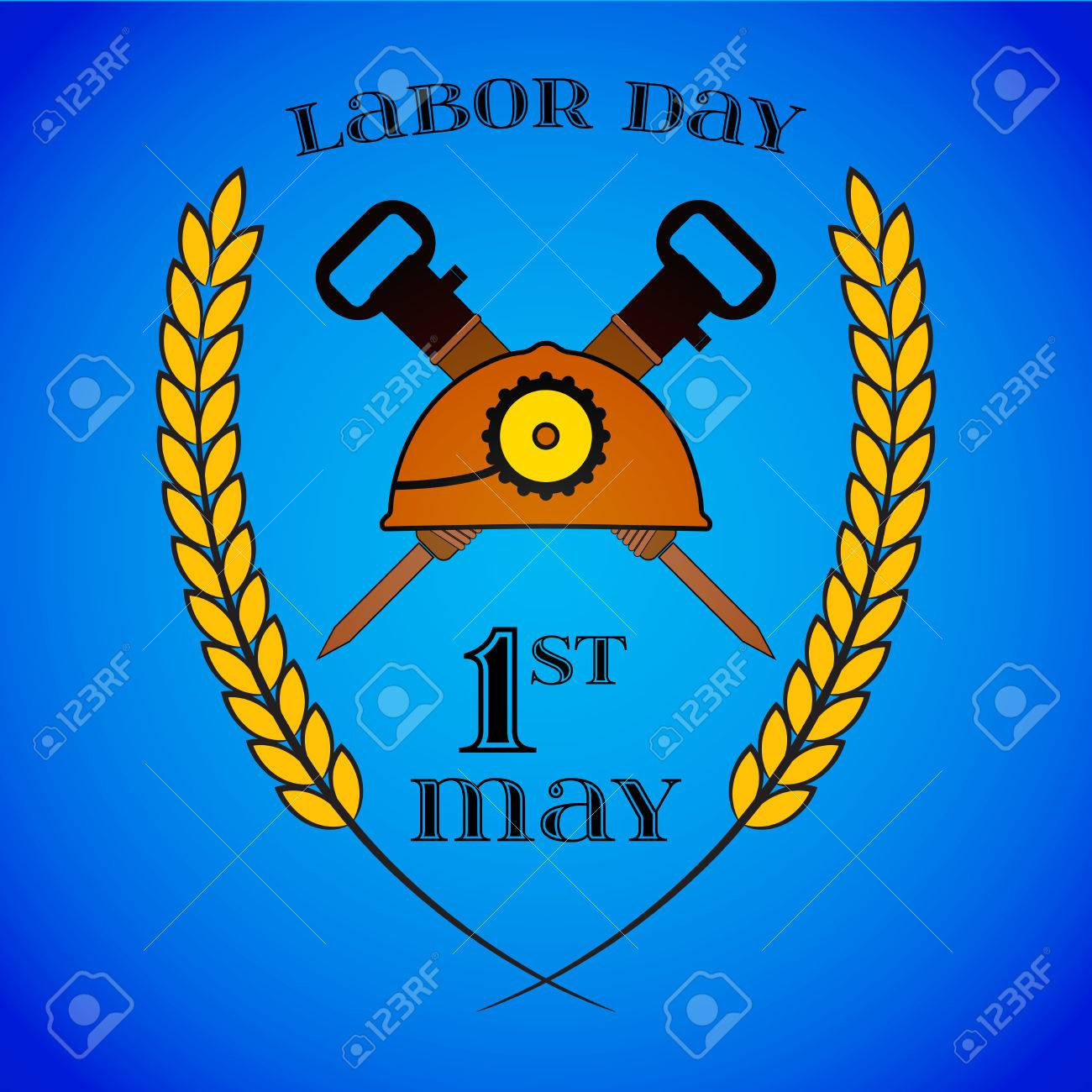 May 1st labor day crossed jackhammers and helmet clip art libres labor day crossed jackhammers and helmet banque dimages buycottarizona Choice Image