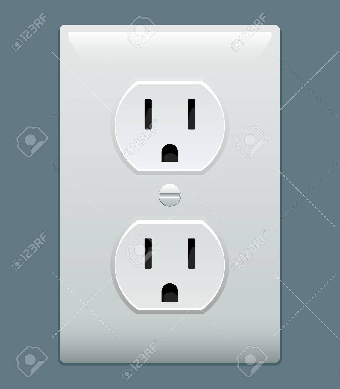 Electric outlet illustration Plug Outlet Graphic