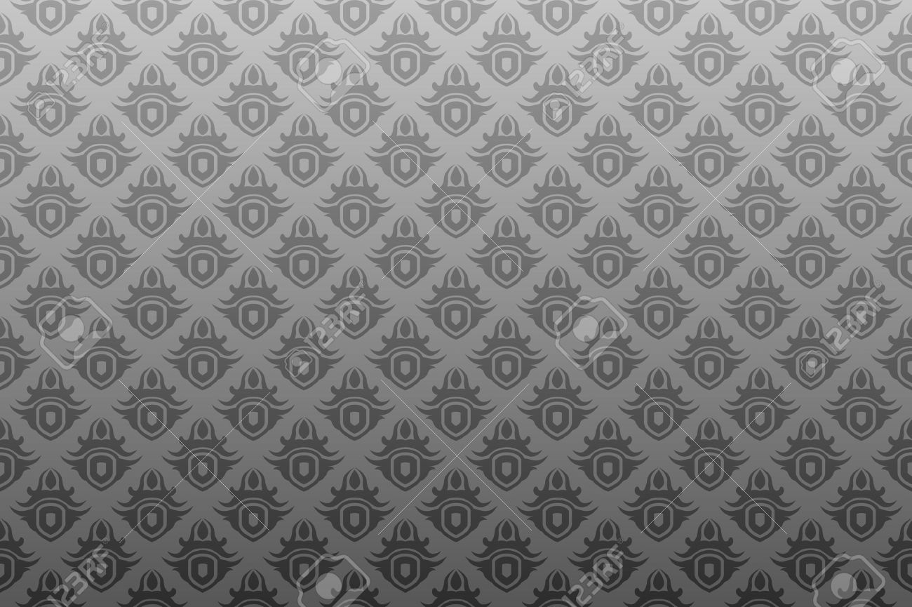 Gray antique seamless wallpaper background pattern design Stock Vector - 3275573