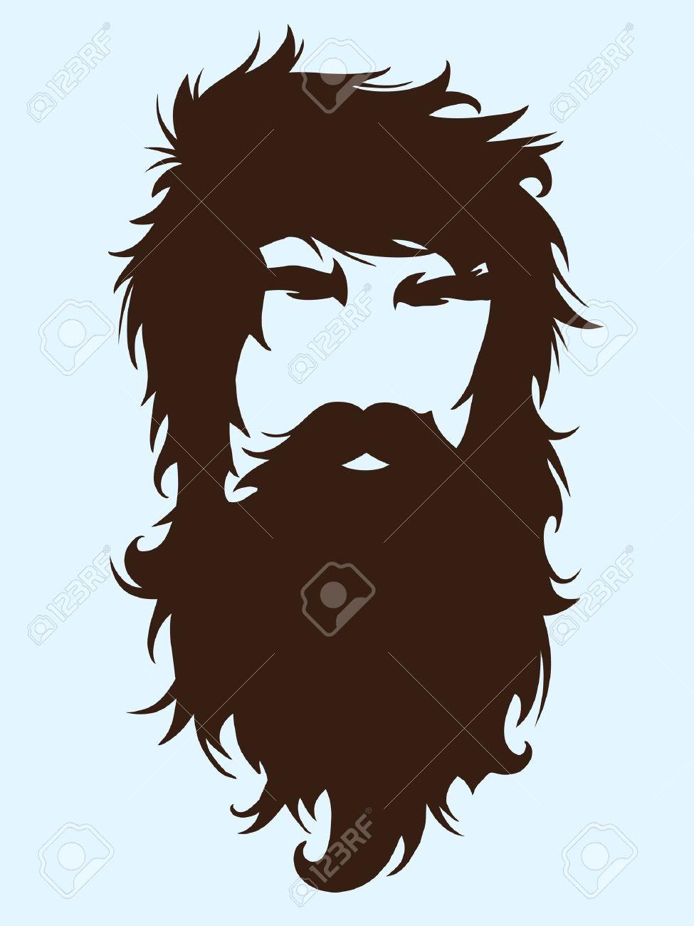 Bearded man silhouette...