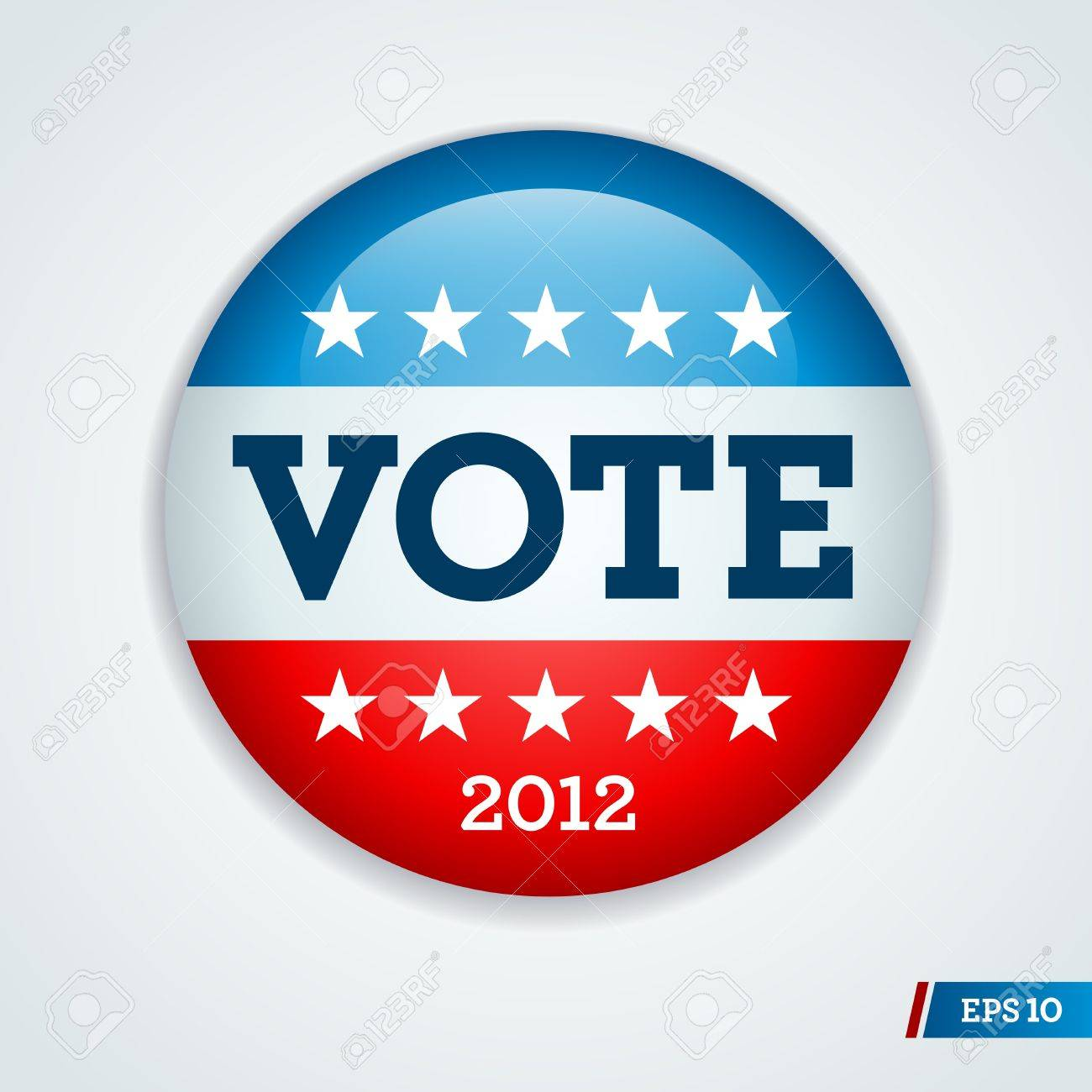 Vote election campaign badge button for 2012 Stock Vector - 11870039