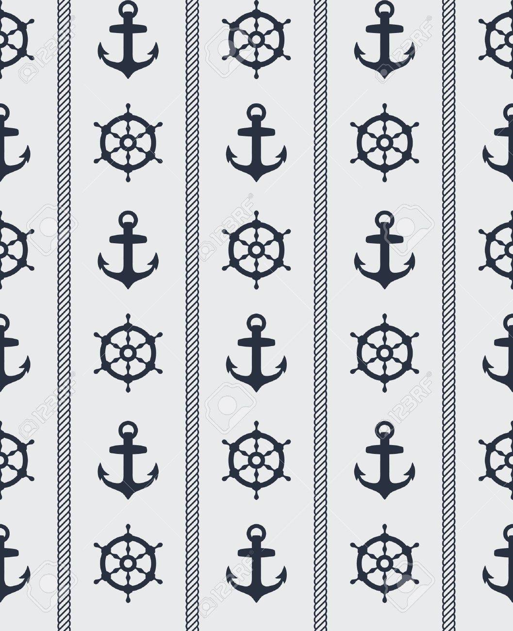Seamless blue nautical background pattern design Stock Vector - 11914736
