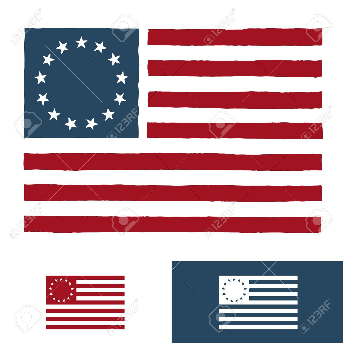 Original vintage american flag design with 13 stars royalty free original vintage american flag design with 13 stars stock vector 13829018 publicscrutiny Image collections
