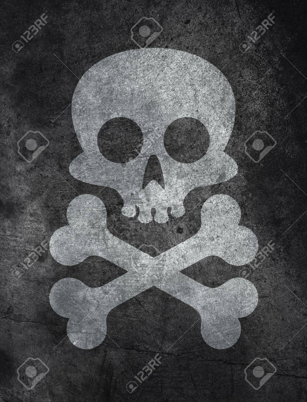 Dark Concrete Floor Texture dark concrete floor texture background with skull and bones stock