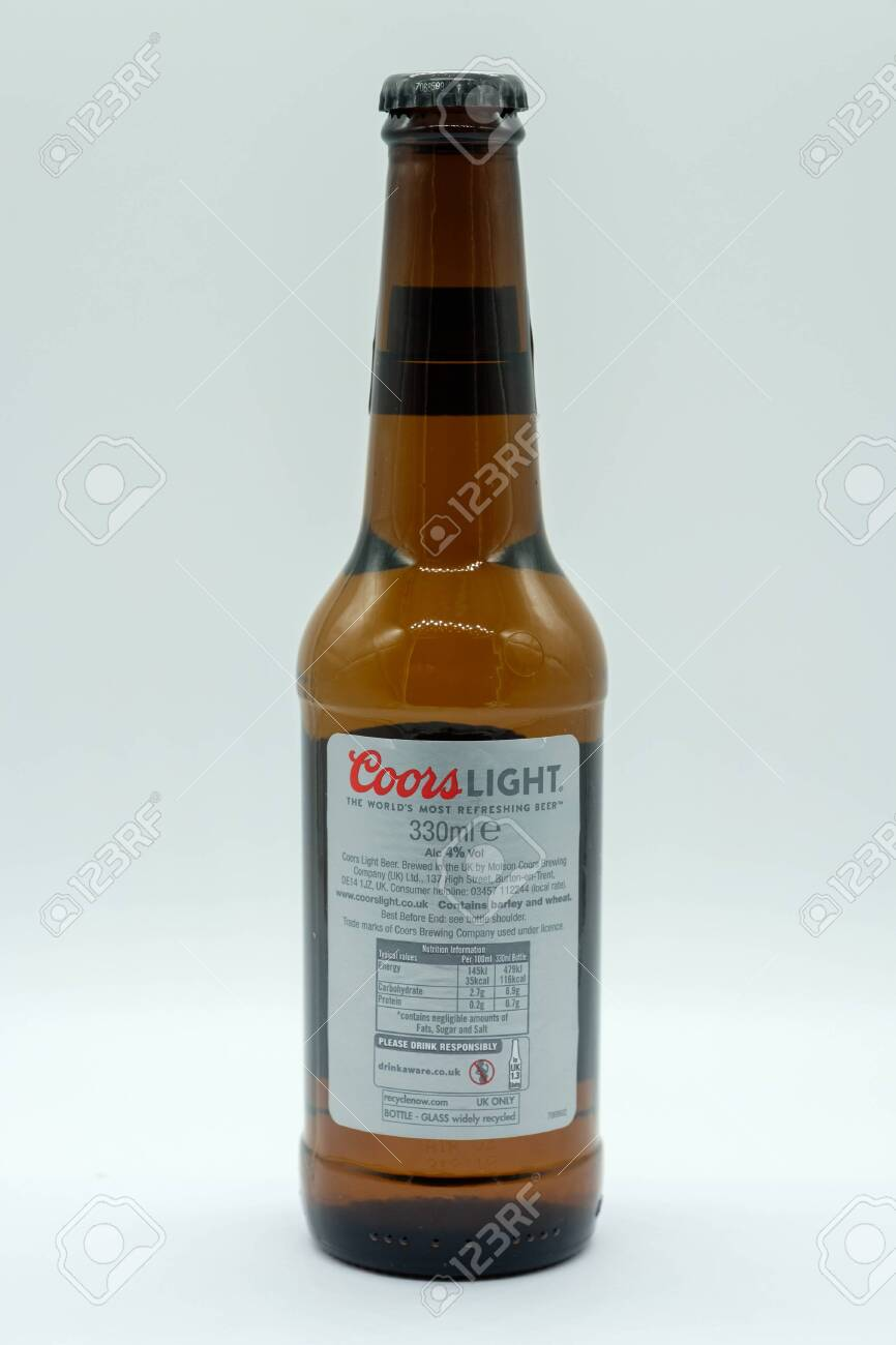 Largs Scotland Uk February 04 2019 A Bottle Of Coors Light Stock Photo Picture And Royalty Free Image Image 119636185
