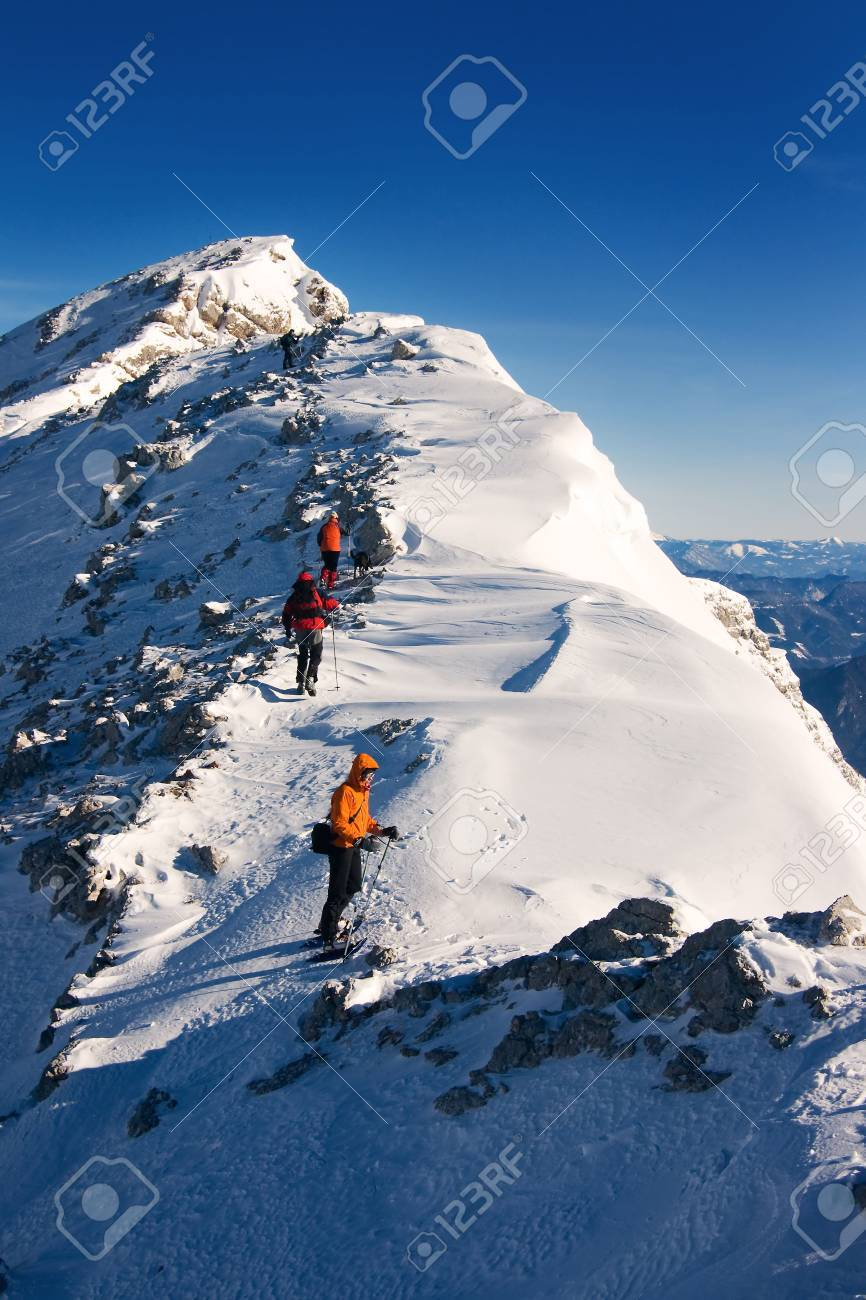 Climbers on the ascent Stock Photo - 2632469